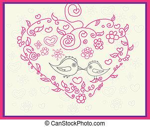 madár, csókolózás
