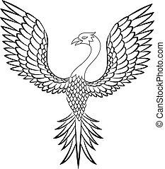 madár, főnix madár