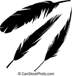 madár, grunge, árnykép, horgol