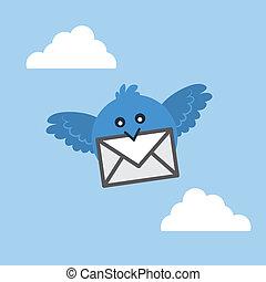 madár slicc, levél
