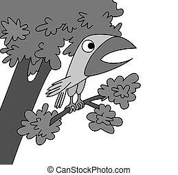 madár, white háttér, rajz