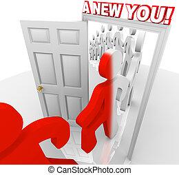 maga, -, jár, kapualj, át, új, ön, javítás