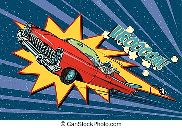 magas, autó, hely, elektromos, gyorsaság