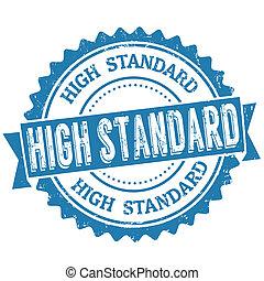 magas, bélyeg, standard