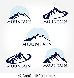 magas, hegy, állhatatos, kreatív, ikon
