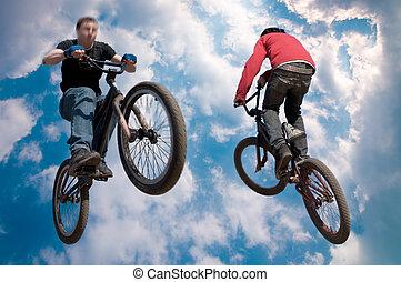 magasugrás, bicikli rider