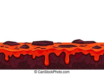 magma, táj, ábra