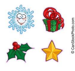 magyal, -, ikon, állhatatos, tehetség, hópehely, karácsony, csillag