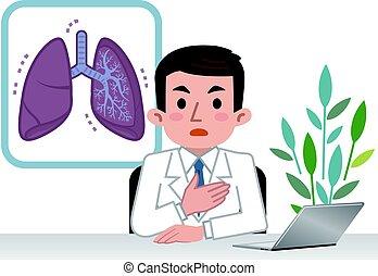 magyarázó, tüdő, orvos