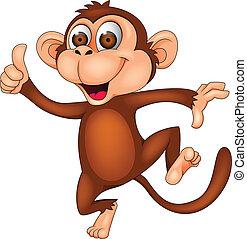 majom, tánc