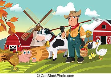 major állat, farmer