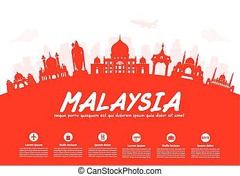 malaysia, utazás, iránypont