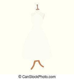 mannequin., collection., white ruha, esküvő