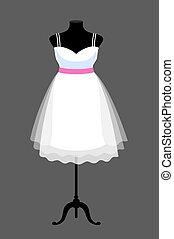 mannequin., ruha, fehér, pazar, esküvő