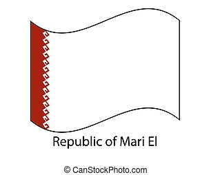 mari, texture., jelkép, ábra, magasvasút, russia., fehér, legyőz, háttér, szövetségi, köztársaság, lobogó, nemzeti