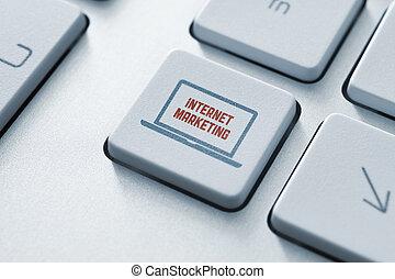 marketing, gombol, fogalom, internet