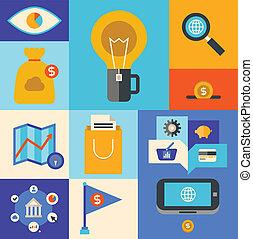 marketing, internet icons