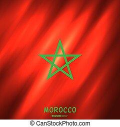 marokkó, nemzeti lobogó, háttér