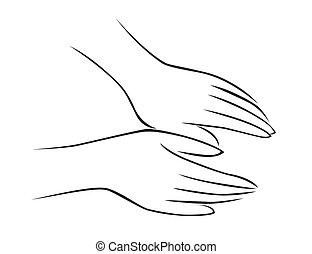 masszázs, kéz