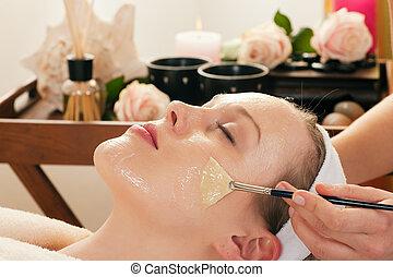 maszk, -, fordít, kozmetikum, arcápolás
