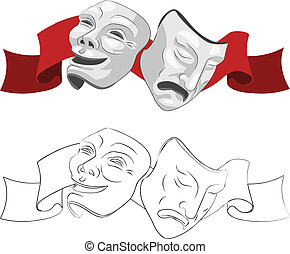 maszk, színház, tragédia, vígjáték