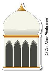 mecset, elszigetelt, sablon, böllér, épület
