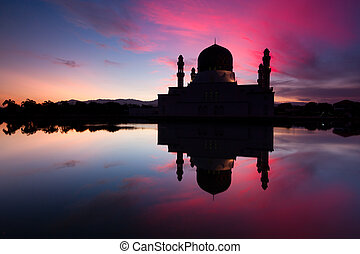 mecset, kota, kinabalu, város