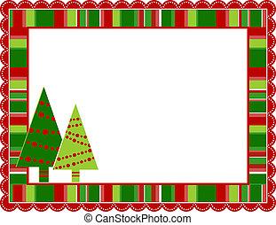 megfosztot, keret, karácsony