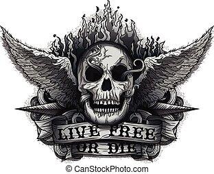 meghal, szabad, él, vagy