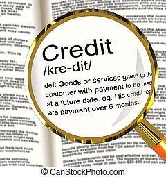 meghatározás, pénztelen, kiállítás, fizetés, hitel, nagyítóüveg, kölcsönad, vagy