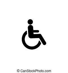 meghibásodott, egyszerű, jelkép, tervezés, ikon