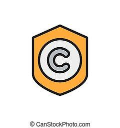megjelöl, icon., oltalom, író, lakás, szín, szerzői jog