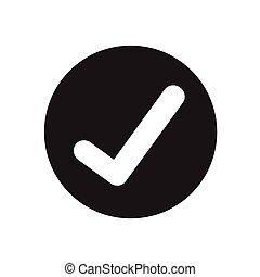 megjelöl, tervezés, ellenőriz, ábra, ikon