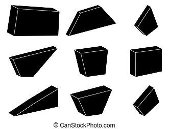megkövez, állhatatos, egyszerű, jelkép, vektor, tervezés, ikon