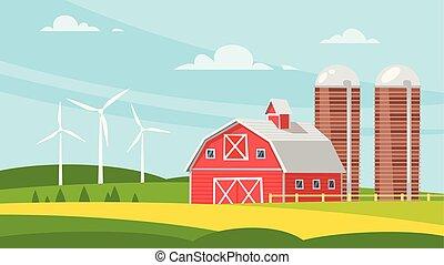megművel épület, vidéki, -, istálló