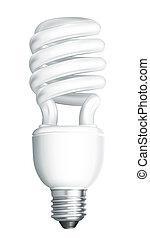 megmentés, energia, vektor, lámpa