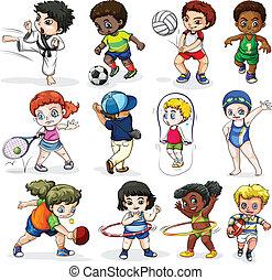 megnyerő, elfoglaltságok, különböző, heccel sport