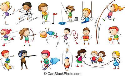 megnyerő, különböző, heccel sport