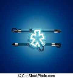 megtáviratoz, betű, neon, vigasztal, ábra, gyakorlatias, vektor