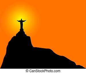 megváltó, krisztus, (statue)