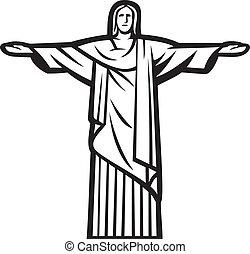 megváltó, krisztus, szobor