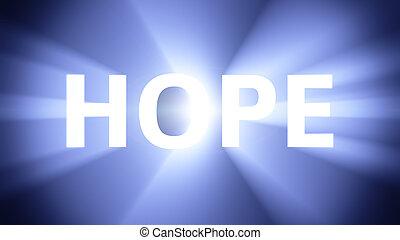 megvilágít, remény