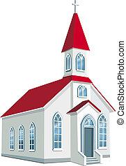 megye, kevés, keresztény, templom