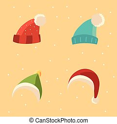 meleg, öltözék, tél, állhatatos, ikonok, segédszervek