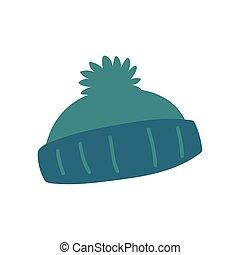 meleg, háttér, kiegészítő, white kalap, tél, ikon