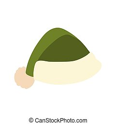 meleg, háttér, kiegészítő, white kalap, tél, zöld, ikon