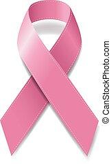 mell tudatosság, szalag, rózsaszínű, rák, jelkép, gyakorlatias