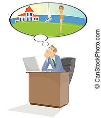 menedzser, álmodik, hivatal