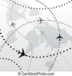 menekülés, alaprajzok, utazás, kapcsolatok, világ, repülőgép