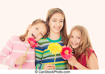 menstruáció, boldog, gyerekek
